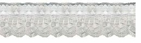Ruffled Lace With Ribbon White