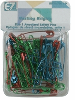 Safety Pins Basting Brights 50/Pkg