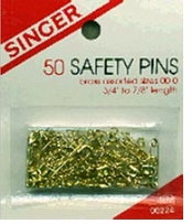 Safety Pins Brass Assorted Sizes 50/Pkg