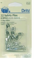 Safety Pins Nickel Assorted Sizes
