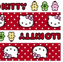Sanrio Hello Kitty Gingerbread Stripe 44in 100% Cotton D/R