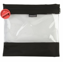 Seeyourstuff Clear Storage Bags Black 12inx13in