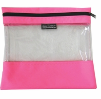 Seeyourstuff Clear Storage Bags Pink 10inx11in