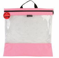 Seeyourstuff Clear Storage Bags Pink 16inx16in