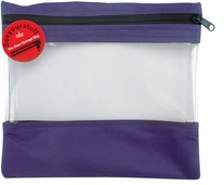 Seeyourstuff Clear Storage Bags Purple 12inx13in