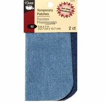 Self-Stick Denim Patches Blue 5inx5in 2/Pkg