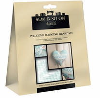 Sew & Sew On Hanging Heart Kit Welcome