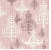 Shabby Chic Pink Chandelier 43inX5yds 100% Cotton D/R