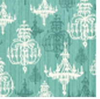 Shabby Chic Turquoise Chandelier 43inX5yds 100% Cotton D/R