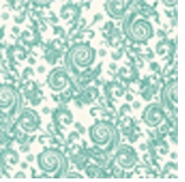 Shabby Chic Turquoise Filigree 43inX5yds 100% Cotton D/R