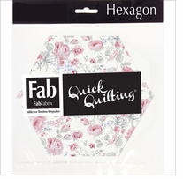 "Shabbylicious Fabric Hexagons Pink 6""X6"" 42pcs"
