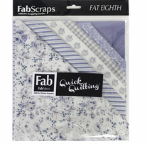 "Shabbylicious Fat Eighths Blue 9""X21"" 12pcs"