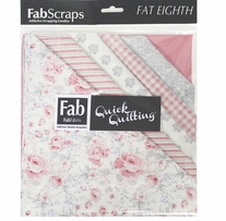 "Shabbylicious Fat Eighths Pink 9""X21"" 12pcs"