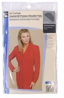 Shoulder Pads Black 1/2in Covered All Purpose
