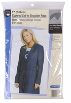 Shoulder Pads Black 1in Covered Set-In