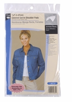 Shoulder Pads White 1/2in Covered Set-In