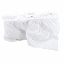 Simple Eyelet 4in Wide 10 Yards White