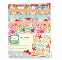 Simple Quilt Kits Brooketon Wonky Windmill Quilt