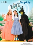 Simplicity Adult Wizard of Oz Costumes #4136R5