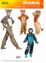 Simplicity Child, Boy and Girl Costumes #2855A