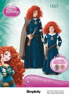 Simplicity Child's and Girls Disney Brave Costume 3-4-5-6 #1557HH