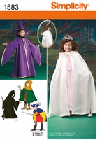 Simplicity Child's Caped Costume 3, 4, 5, 6, 7, 8 #1583A