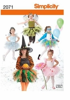 Simplicity Child's & Girl's Costumes #2071HH