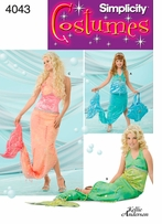 Simplicity Child's, Mermaid Costume #4043A