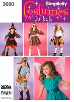 Simplicity Childs Costumes #3680A
