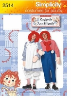Simplicity Costume Reggady Ann and Andy #2514A