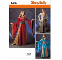 Simplicity Crafts Costumes #1487R5 14-16-18-20-22