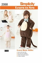 Simplicity Learn to Sew Toddler's Costumes #2068A