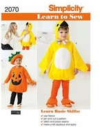 Simplicity Learn to Sew Toddler's Costumes #2070A