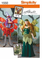 Simplicity Misses Amy Brown Fairy Costume 14, 16, 18, 20, 22 #1550R5