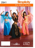 Simplicity Misses Belly Dance Costume #2941RR