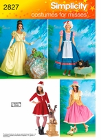 Simplicity Misses Costume and Dog Costume #2827RR