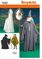 Simplicity Misses, Men and Teen Costumes XS, S, M, L, XL #1582A
