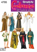 Simplicity Misses, Men or Teen Nativity Costumes #4795A
