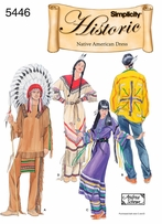 Simplicity Misses, Men's and Teens Native American #5446A
