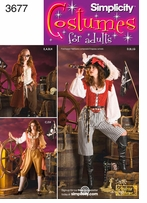 Simplicity Misses Pirate Costumes #3677RR