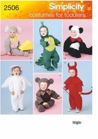 Simplicity Toddler Costumes #2506A