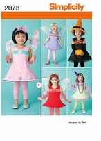 Simplicity Toddler's Costumes #2073A