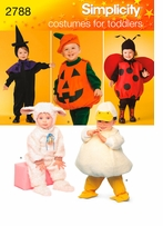 Simplicity Toddlers Costumes #2788A