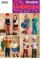 Simplicity Toddlers Costumes #3650A