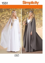 Simplicity Woman's Gown Costume 8, 10, 12, 14 #1551KK