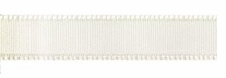 Single Face Satin Ribbon Wide Antique White 3/8in x 18ft