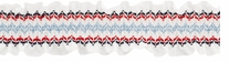 Smocking On White Ribbon Navy, Red & Denim Blue 2-1/4X10yds