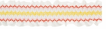 Smocking On White Ribbon Orange, Pink & Yellow 2-1/4X10yds