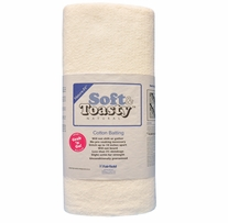 Soft & Toasty Natural 100% Cotton Batting 45X5yd