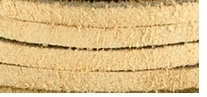 Solid Suede Lace Beige 25 Yard Spool
